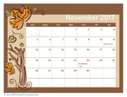 November 2017 Calendar PDF
