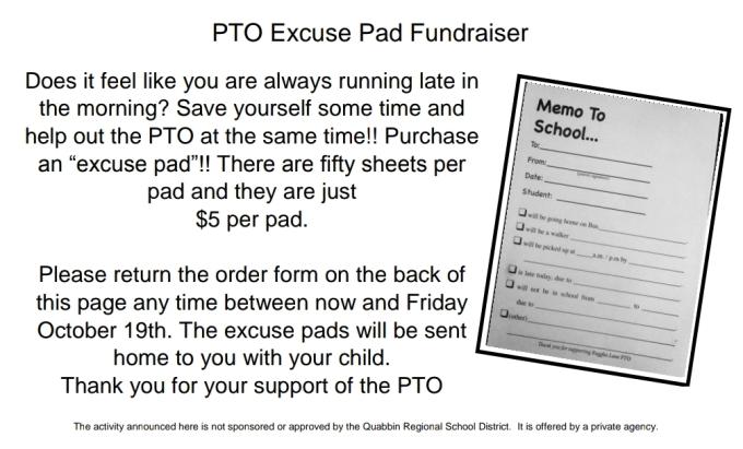 ExcusePad